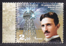 Bosnia 2018 75th Anniversary Of Death Nikola Tesla Sciences Physics Energies Electricity Famous People MNH - Bosnia And Herzegovina