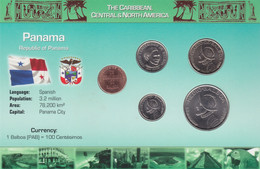 PANAMA - Set 5 Coins - Edelweiss Coins - Panama