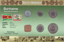 SURINAME - Set 6 Coins - Edelweiss Coins - Surinam 1975 - ...