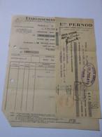 T611 / Facture + Traite PERNOD 1936 - Invoices