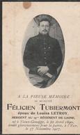 ABL, Tubiermont , Né à Vieux - Genappe 1890 - Yser 1917 - Obituary Notices