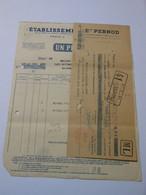 T612 / Facture + Traite PERNOD 1937 - Invoices