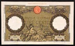 100 Lire Roma Guerriera Fascio Roma 30 04 1936  LOTTO 3507 - 100 Lire