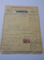 T613 / Facture PERNOD 1941 - Invoices