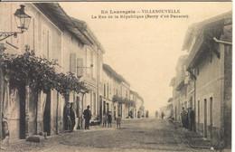 VILLENOUVELLE - Rue De La République - Andere Gemeenten
