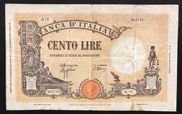 100 Lire Grande B Fascio 09 12 1942 Naturale  LOTTO 3508 - 100 Lire