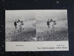 SUR LES GALETS - VUES STEREOSCOPIQUES JULIEN DAMOY SERIE N0 20 - Stereoskopie