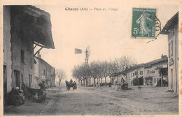 CHAZEY - Place Du Village - Moulin à Vent, Eolienne S. Plissonnier, Lyon - Puits - Attelage De Cheval - Other Municipalities