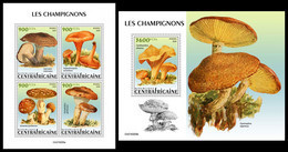 CENTRAL AFRICA 2021 - Mushrooms, M/S + S/S Official Issue [CA210205] - Champignons
