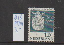(A643.15) Plaatfout NVPH 816 PM14   Gestempeld CW 3,- - Abarten Und Kuriositäten