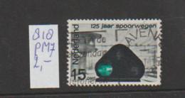 (A643.17) Plaatfout NVPH 818 PM7   Gestempeld CW 2,- - Abarten Und Kuriositäten