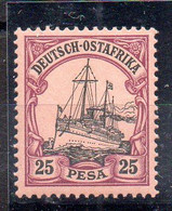 Alemania África Oriental Sello Nº Michel 17 ** BARCOS (SHIPS) - Colony: German East Africa