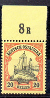 Alemania África Oriental Sello Nº Michel 26 ** BARCOS (SHIPS) - Colony: German East Africa