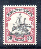Alemania África Oriental Sello Nº Michel 27 ** BARCOS (SHIPS) - Colony: German East Africa