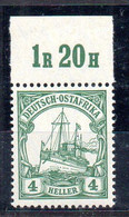 Alemania África Oriental Sello Nº Michel 31 ** BARCOS (SHIPS) - Colony: German East Africa