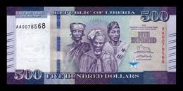 Liberia 500 Dollars 2016 Pick 36a SC UNC - Liberia