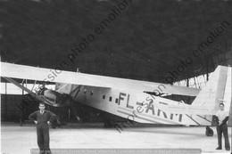 PHOTO RETIRAGE REPRINT AVION    FARMAN F222 2 N°10 FRANCE FL-ARM DES LAM DANS HANGAR A DAMAS EN 1942 - Aviación