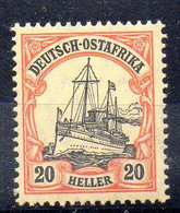 Alemania África Oriental Sello Nº Michel 34 ** BARCOS (SHIPS) - Colony: German East Africa