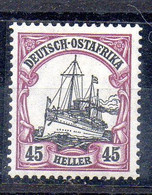 Alemania África Oriental Sello Nº Michel 36 ** MARQUILLADO (GEPRÜFTE) BARCOS (SHIPS) - Colony: German East Africa