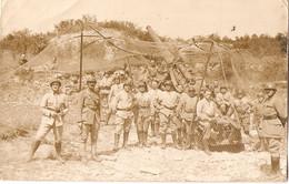 Cpa Carte-photo Vers 1939, Artilleurs à Leur Pièce Sous Le Filet De Camouflage, Canon De 155 ?, Artillerie Lourde - War 1939-45