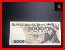 POLAND 2.000 2000 Zlotych 1.6.1982   P. 147  UNC - Poland