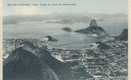 RIO DE JANEIRO - VISTA TIRADA DO CUME DO CORCOVADO  (C P DE CARNET) - Rio De Janeiro