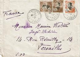 CTN68COL- INDOCHINE EP ENVELOPPE BAHT HUONG / VERSAILLES 23/3/1926 - Brieven En Documenten