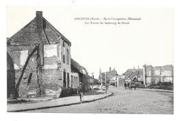 CPA 59 - ORCHIES - RUINES DU FAUBOURG DE DOUAI - APRES OCCUPATION ALLEMANDE - Orchies