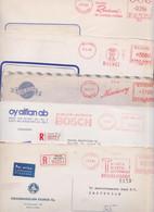 SUOMI FINLAND FINLANDE Lot Varié De 236 Enveloppes Affranchissement Machine EMA Stampless Meter Mail Covers Kenttapostia - Unclassified