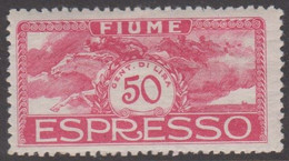 1920. FIUME. Interallied Occupation. 50 C ESPRESSO. Hinged. Thin Spot. () - JF418651 - Fiume