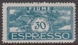 1920. FIUME. Interallied Occupation. 30 C ESPRESSO. Hinged. Thin Spot. () - JF418652 - Fiume