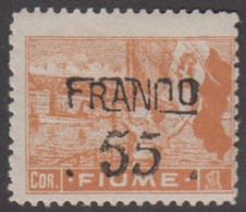 1919. FIUME. Interallied Occupation. FRANCO Surcharge 55 On 1 COR. Hinged.  () - JF418654 - Fiume