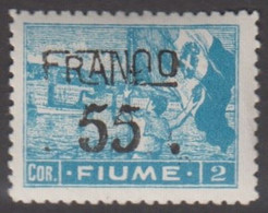 1919. FIUME. Interallied Occupation. FRANCO Surcharge 55 On 2 COR. Hinged.  () - JF418655 - Fiume