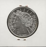 FRANCE / Monnaie Pièce  100 Francs Fraternité  1988 Argent - N. 100 Franchi