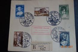 Lettre En  Recommandée Bureau Temporaire N°1 PARIS - 1921-1960: Moderne