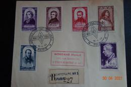 Lettre En  Recommandée Bureau Temporaire N°3 PARIS - 1921-1960: Moderne