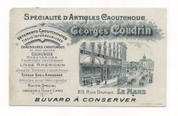 BUVARD SPECIALITE ARTICLES CAOUTCHOUC - COUDRIN LE MANS Rue Dumas - Chaussures - Linge Américain - Articles Pour Vélos.. - Vestiario & Tessile