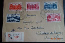 Lettre Recommandée Journée Du Tiùbre 1949 - Briefe U. Dokumente
