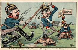 CPA - WW1 WWI Propaganda Propagande - E. MULLER - Tartarughe - Umoristica Satirica, Humour Satirique - NV - PV787 - Oorlog 1914-18