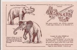 BUVARD   CAHIERS RONSARD - ELEPHANT - - Animals