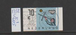 (A643.67) Plaatfout NVPH 1352c PM    Gestempeld CW 8,- - Abarten Und Kuriositäten