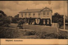 Helgoland, Kommandantur, Deutsche Kaiserliche Marine, Postkarte, WKI, Militär - War 1914-18