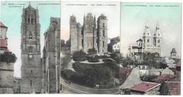 12 -  L'AVEYRON PITTORESQUE - RODEZ -  LOT DE 7 BELLES CARTES COLORISEES - Editeur E.L.D. ( Détail Du Lot Ci-après ) - Rodez