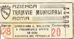 ** TICKET.- TRAMVIE.-ROMA.-** - Europa