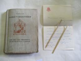 """Genummerd Boek Met BRIEF  """" LANGS 'T BAGGYNHOF  --MAURITS  SABBE   Geil . Door Jules  Fonteyne  1950 - Antiguos"""