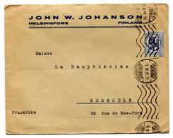 RC 21023 FINLANDE 1925 LETTRE OBLITERATION MECANIQUE D' HELSINKI POUR GRENOBLE FRANCE COVER - Briefe U. Dokumente