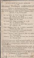 ABL, Laboureur , Né à Naze - Stoumont 1892 - Oeieren ( Près De Furnes ) 1917 - Obituary Notices