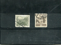 Autriche 1929-31 Yt 387 388 - Usados