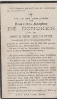 ABL, De Doncker , Meerebeke 1895 - Loo 1917 - Todesanzeige
