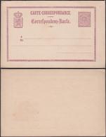 Luxemburg 1874 - 6 C Postal Stationery Card MiNr. P 4. G. D. De Luxembourg Correspondenz-Karte. - Interi Postali